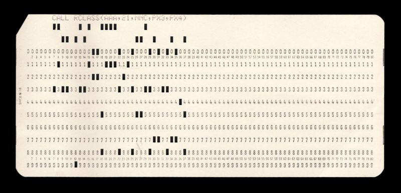 Punched card and evolution of computers