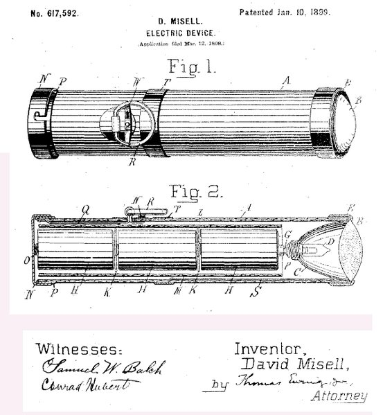 Electric Device Patent 617,592