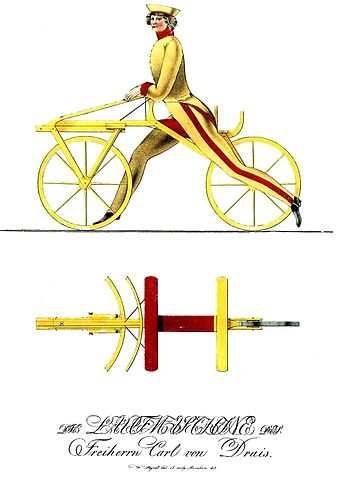 Draisine 1817 - evolution of bicycle