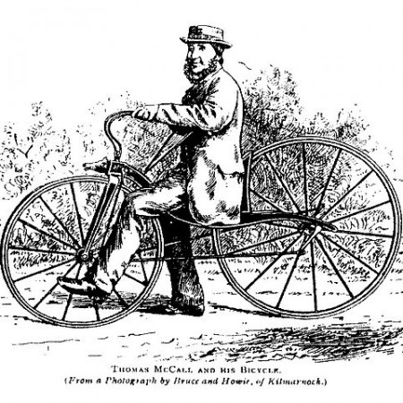 McCall on velocipede - evolution of bicycle