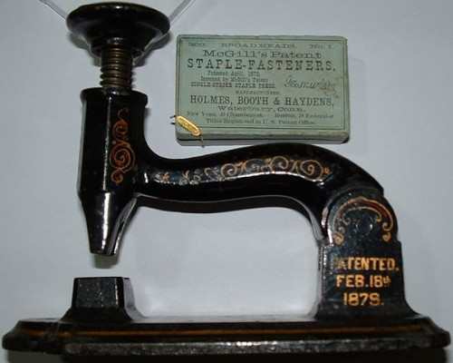 McGill Stapler - Evolution of stapler