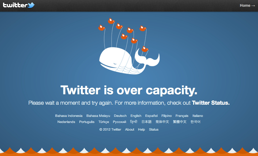 Twitter is over capacity - evolution of twitter