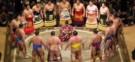 sumo ceremony in Japan