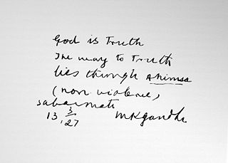 Mahatma Gandhi Quotes and handwriting