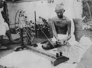 Mohandas Gandhi quotes and spinning