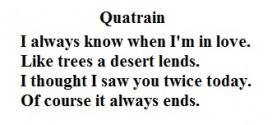 quatrain meaning