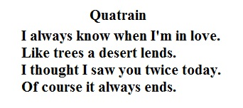 Quatrain meaning and quatrain is a poem or verse that has four lines