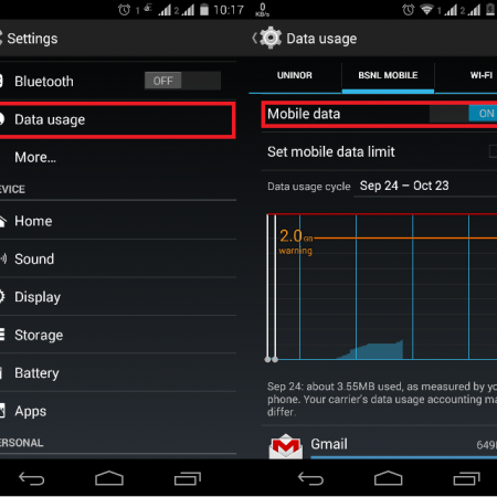 switch between 2g and 3g in android