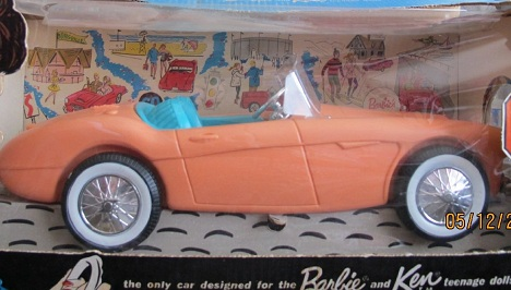 Barbie's first car is Austin Healey and Barbie doll facts