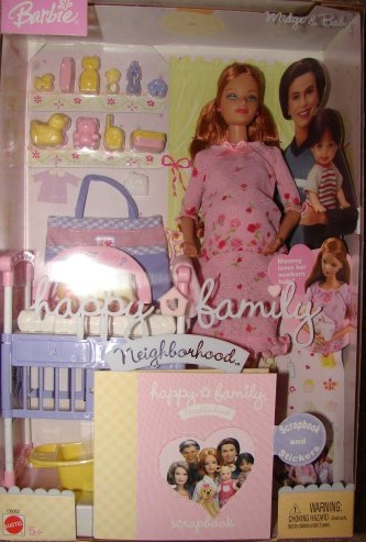 Midge and family. Facts about Barbie doll