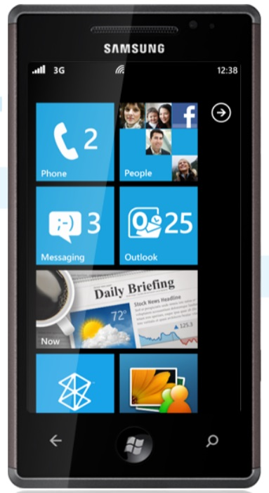 first windows phone 7 mobile or smartphone from Samsung